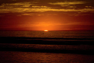 Red Sunset Art Print by Terry Thomas