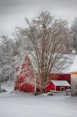 Red Vermont Barn Art Print