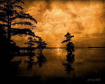 Digital Art - Reelfoot Lake Sunrise by J Larry Walker
