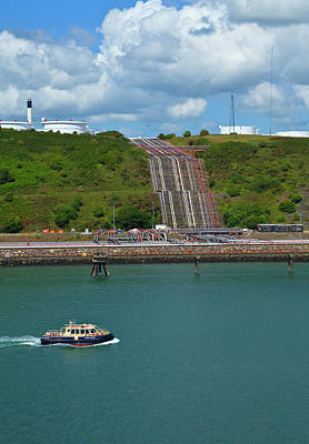 Refinary Pipeline In Milford Haven Art Print by Panoramic Images