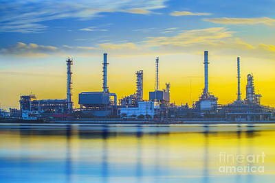 Refinery Industrial Plant Art Print by Anek Suwannaphoom