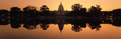Reflection Of A Government Building Art Print by Panoramic Images