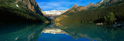 Reflection Of Mountains In Water, Lake Art Print by Panoramic Images