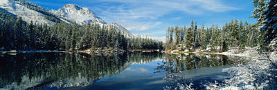 Reflection Of Trees In A Lake Art Print
