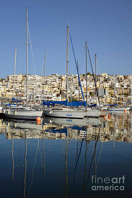 Sailing Photograph - Reflections In Mikrolimano Port by George Atsametakis