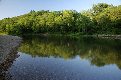 Photograph - Reflections On Current River by Byron Jorjorian
