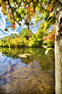 Impressionism Photos - Reflections on the Canal II by David Letts