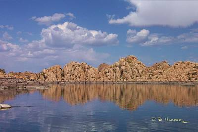 Photograph - Reflections On Watson Lake by R B Harper