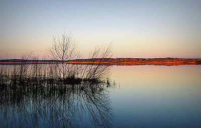 Reflections On Lake Jackson Tallahassee Art Print by Paul  Wilford
