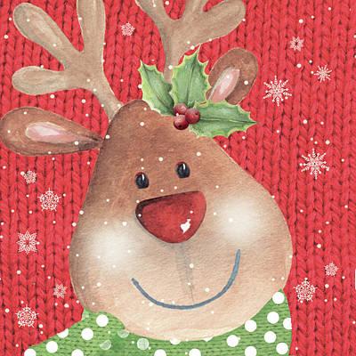 Reindeer Painting - Reindeer by P.s. Art Studios