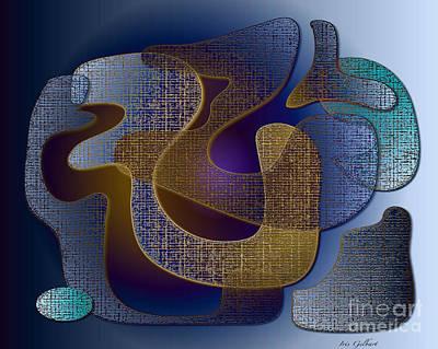 Art Print featuring the digital art Relaxing Shapes by Iris Gelbart