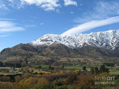 Photograph - Remarkables Mountains by Lines