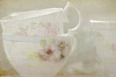 Vintage Teacup Photograph - Remember When by Bonnie Bruno