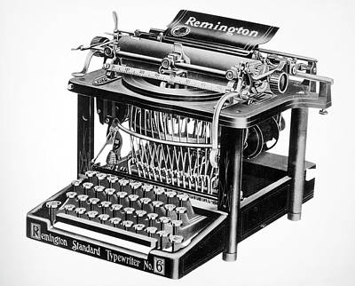 Typewriter Painting - Remington Typewriter by Granger