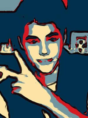 Retrato A Justin Bieber Art Print by Don Mario Ramirez Centeno