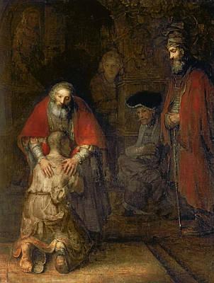 Return Of The Prodigal Son Art Print by Rembrandt Van Rijn