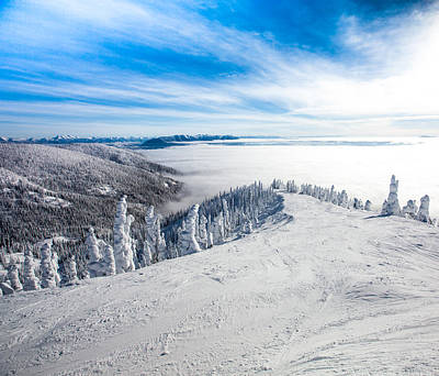 Ski Resort Photograph - Ridgeline by Aaron Aldrich