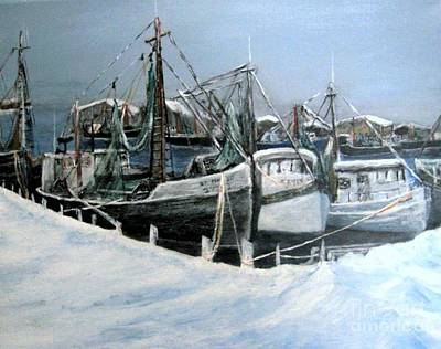 Gloucester Painting - Riding Out The Storm by Joseph Aiello