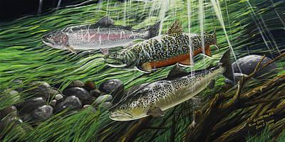 River Gems Art Print by Juan Jose Serra