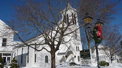 Photograph - Riverhead United Methodist Church After A Blizzard by Steven Spak