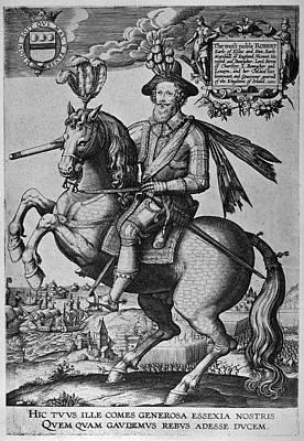 1596 Painting - Robert Devereux (1566-1601) by Granger