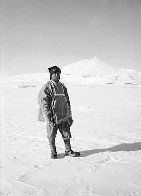 Erebus Photograph - Robert Falcon Scott by Scott Polar Research Institute