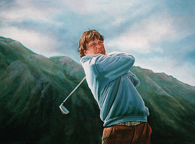 Golf Art Painting - Robert Jan Derksen by Paul Meijering