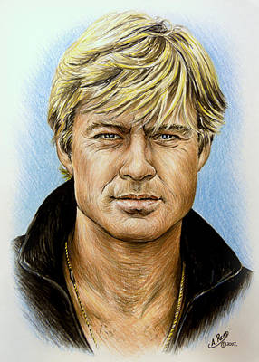 Black Sex Drawing - Robert Redford by Andrew Read