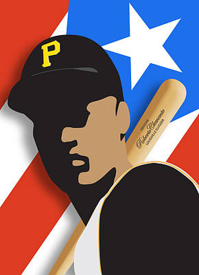 Roberto Clemente Art Print by Ron Regalado