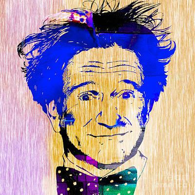 Movie Star Mixed Media - Robin Williams Art by Marvin Blaine