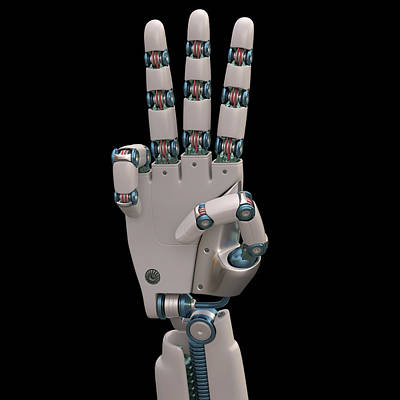 Robotic Hand Print by Ktsdesign