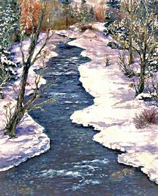 Painting - Rock Creek Winter by Lynne Wright