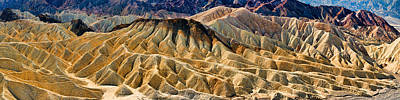 Zabriskie Point Photograph - Rock Formation On A Landscape by Panoramic Images