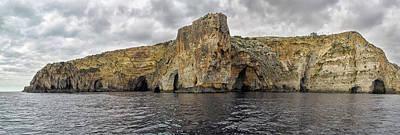 Rock Formations In Mediterranean Sea Art Print