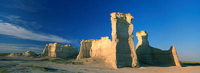 Ancient Civilization Photograph - Rock Formations On A Landscape by Panoramic Images