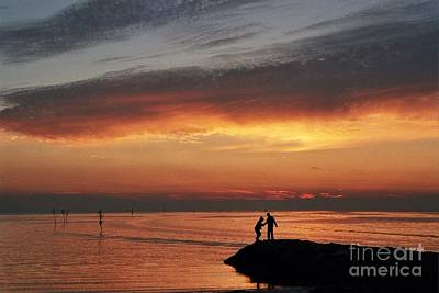 Photograph - Rock Harbor Sunset by Allen Beatty