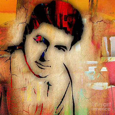 Rock Stars Mixed Media - Rock Hudson Collection by Marvin Blaine
