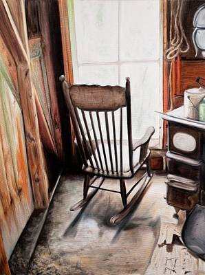 Rocking Chair Print by S Aili