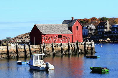 Rockport Motif Number 1 Art Print by Lou Ford