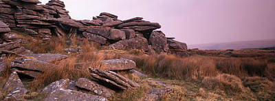 Dartmoor Photograph - Rocks On A Hill, Dartmoor, Devon by Panoramic Images