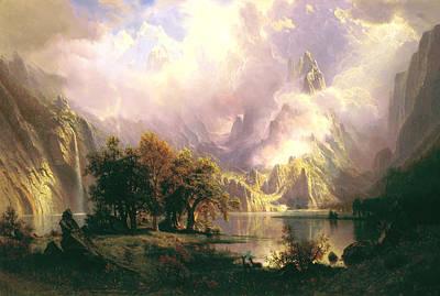 Rocky Mountain Landscape Art Print by Albert Bierstadt