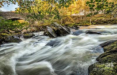 Wales Digital Art - Rocky Stream by Adrian Evans