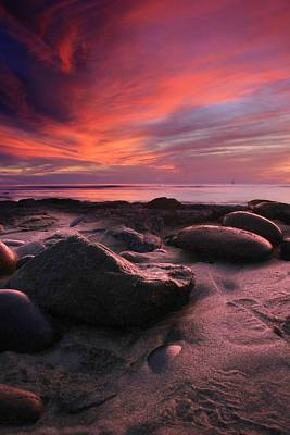Rocky Sunset Art Print by Scott Cunningham