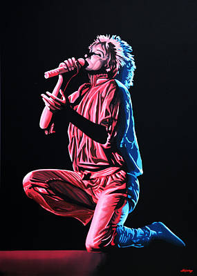 Folk Realism Painting - Rod Stewart by Paul Meijering