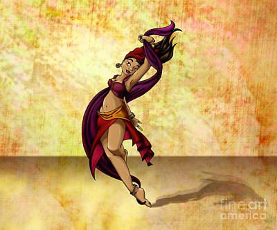 Gypsy Digital Art - Rohesia Dancer by Thedustyphoenix