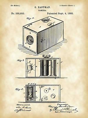 Cartridge Digital Art - Roll Film Camera Patent 1888 - Vintage by Stephen Younts