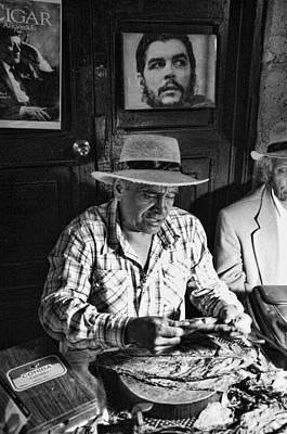 Rolling Cuban Cigars Art Print