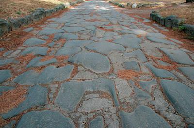 Roman Art The Appian Way, Connecting Art Print by Prisma Archivo