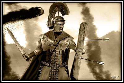 Digital Art - Roman Centurion by John Wills