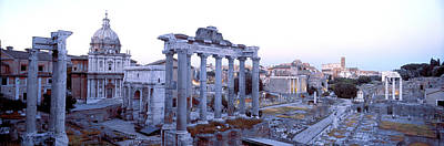 Corinthians Photograph - Roman Forum Rome Italy by Panoramic Images